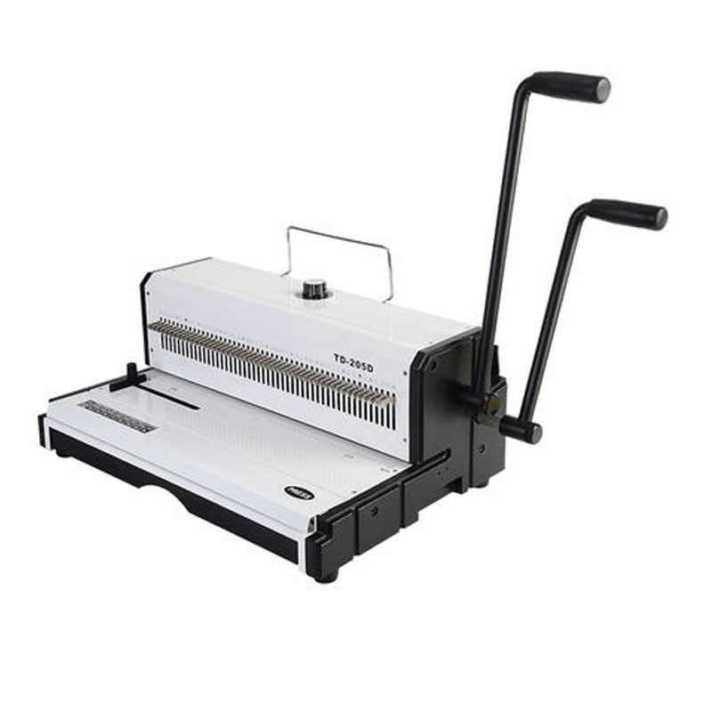 A3 Paper Puncher  46 Holes Punching Machine TD-205D Manual Spiral Wire Binding Machine Paper Cutter Decorative Hole Punch