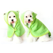 Pet Accessories Cute Cartoon Printed Soft Great Water Absorption Practical Durable Towel