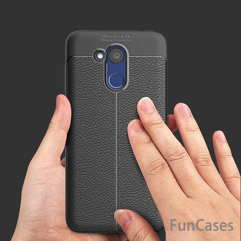 Funda de silicona de TPU suave a prueba de golpes de lujo para Huawei Honor 6C Pro carcasa trasera de cuero para Huawei Honor 6C Pro cubierta de la Caja