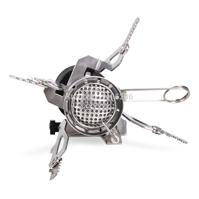 Mini Outdoor Gas Burner Butane Propane Picnic Camping Equipment Backpacking Gas Camping Stove Cooking
