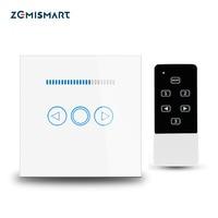 Zemismart EU Wireless Remote Control Dimmer Light Switch 1 Gang Touch Panel 110V to 220V Blue LED Backlight Work with Broadlink