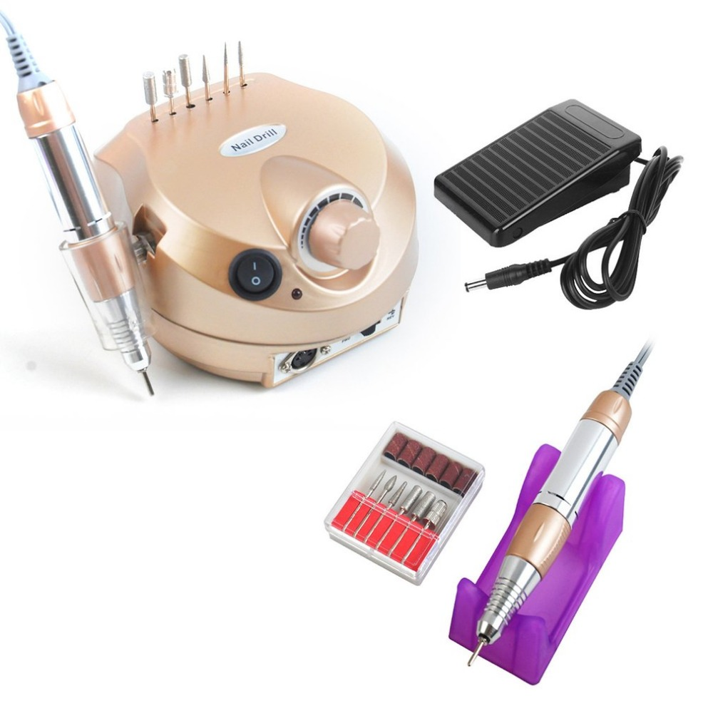 35000RPM Professional Electric File Drill Nail Art Manicure Grinding Machine Pedicure Polisher Tools Nail Care Device 35000rpm professional electric file drill nail art manicure grinding machine pedicure polisher tools nail care device