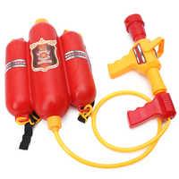 Children Fireman Backpack Nozzle Water Gun Beach Outdoor Toy Extinguisher Soaker Toy