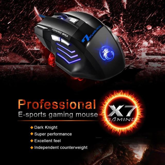 Tastiera Gaming Mouse e tastiera Wired tastiera con retroilluminazione della tastiera Russia Gamer kit 5500Dpi Mouse Da Gioco Silenzioso Set Per PC del computer portatile 6