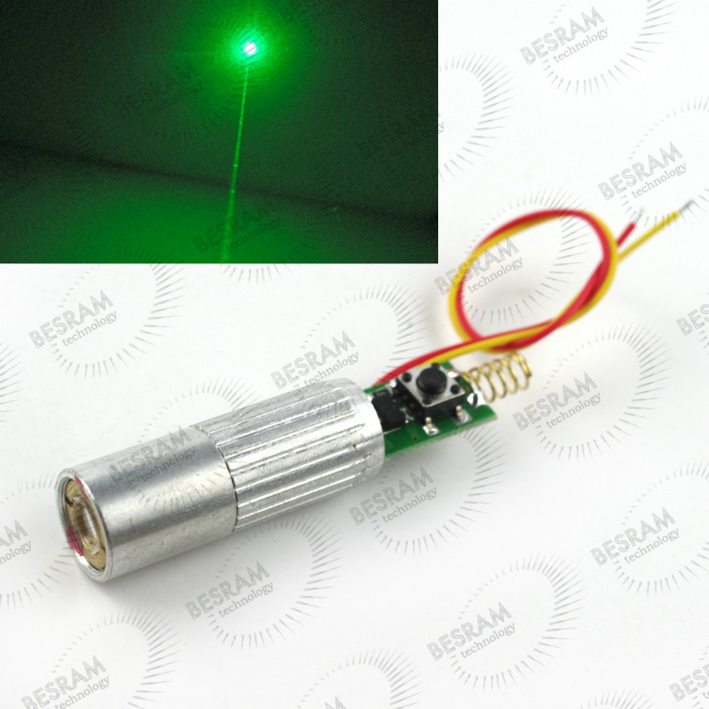 Dia.13mm 10mW 30mW 50mW 80-100mW 532nm Green Beam Laser Lazer Diode Module 3VDC 12 70mm 10mw 30mw 50mw 100mw 150 200mw 532nm green dot line cross focusable laser diode module