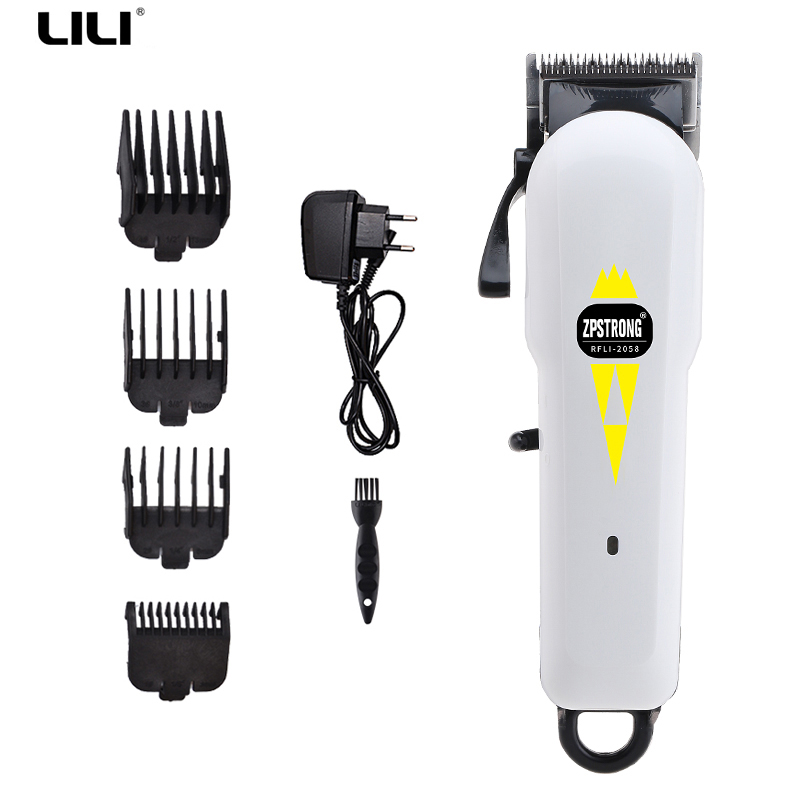 Professional Hair Clippers 100-240V Rechargeable Electric Hair Trimmer Men's Hair Shaver Hair Cutting Machine Styling tools biaoya rechargeable hair clippers set 220 240v ac