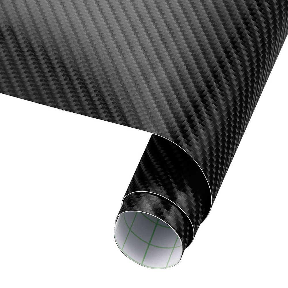 60cm x 10cm 4D fibra de carbono vinilo revestimiento para coche hoja rollo película coche calcomanías accesorios de estilo de coche de la motocicleta película de envoltura de vinilo