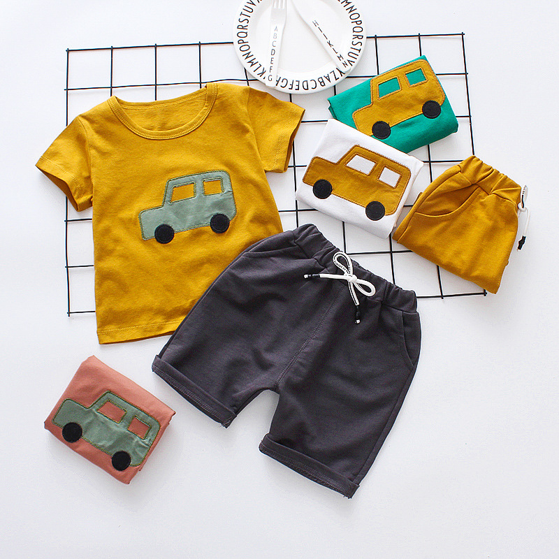 Baby Boy Clothes Set 2018 Summer Cartoon Car Suit For A Boy Toddler Boy Clothing Costumes For Boys 1 2 3 4Y cartoon car print newborn baby boy set blouse pant clothes infantil baby boys clothing outfit sport casual cloth for boys suit