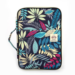 Image 5 - Chinese style Multi functional A4 Document bags Embroidery Waterproof Oxford Cloth Storage bag For Notebooks Pens iPad Computer