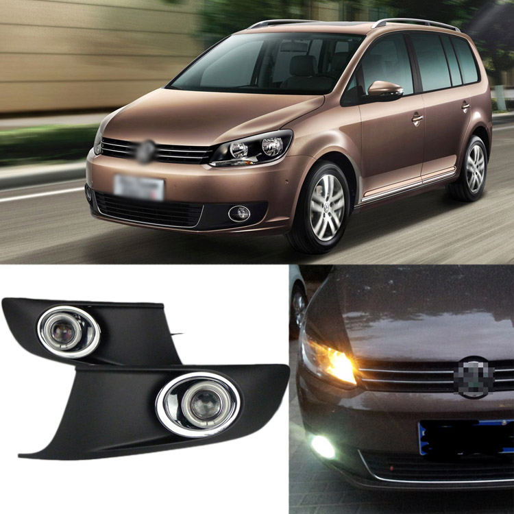 Ownsun Superb 55W Halogen Bulbs COB Fog Lights Source Angel Eye Bumper Cover For VW Touran 2011-2015