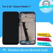 """6.26 """"המקורי M & סן עבור Xiaomi Redmi 7 LCD תצוגת מסך עם מסגרת + מגע מסך Digitizer עבור xiaomi Redmi 7 תצוגת מסגרת"""