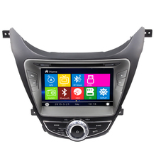 Wince6.0 Car Radio Accessorice DVD Player For Hyundai 2012 Elantra Bluetooth RDS Audio Multimedia System Free Map Touch Screen