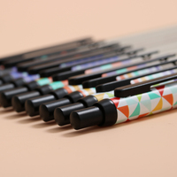 Wooden Quality Premium 0 5mm Gel Ink Pen Roller Pen Office Assessory Writing Supply Stationery Black