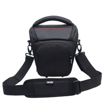 New Fashion Nylon Black 11 * 11 * 21cm Camera Shoulder Bag Digital Camera SLR Camera Bag  Case Camera Handbag