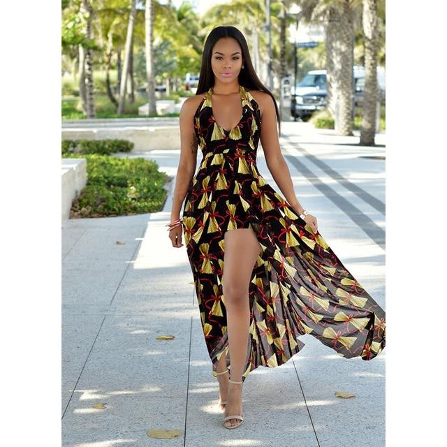 272f04a9fea Длинное летнее пляжное платье в стиле бохо шик красивые дешевые платья Для  женщин модная одежда пляжные