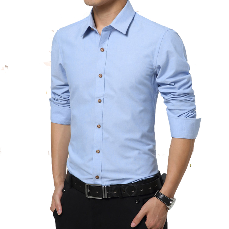 2015 New Arrival Men Long Sleeve Pink Dress Shirt Plus Size 5XL ...