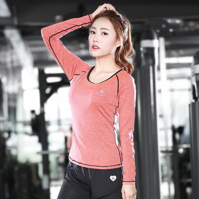 Yoga Shirts Long Sleeve Sweatshirt Quick DryYoga Sport Jacket For Fitness Gym Shirt Female Jogging Dry Fit Women Free Shipping
