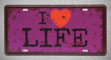 1 pc I love life Quotes coffee  Tin Plates Signs wall man cave Decoration Metal Art Vintage Poster