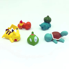 hot deal buy original figures for pokemones sleeping pkchu anime action toy figures collection model toy gift for nintendo switch ps4 gamer