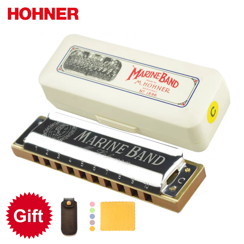 Hohner Marine Band 1896 Classic Harmonica 10 Holes 20 Tone Diatonic Mouth Organ Original Blues Harp Key Of C Musical Instruments