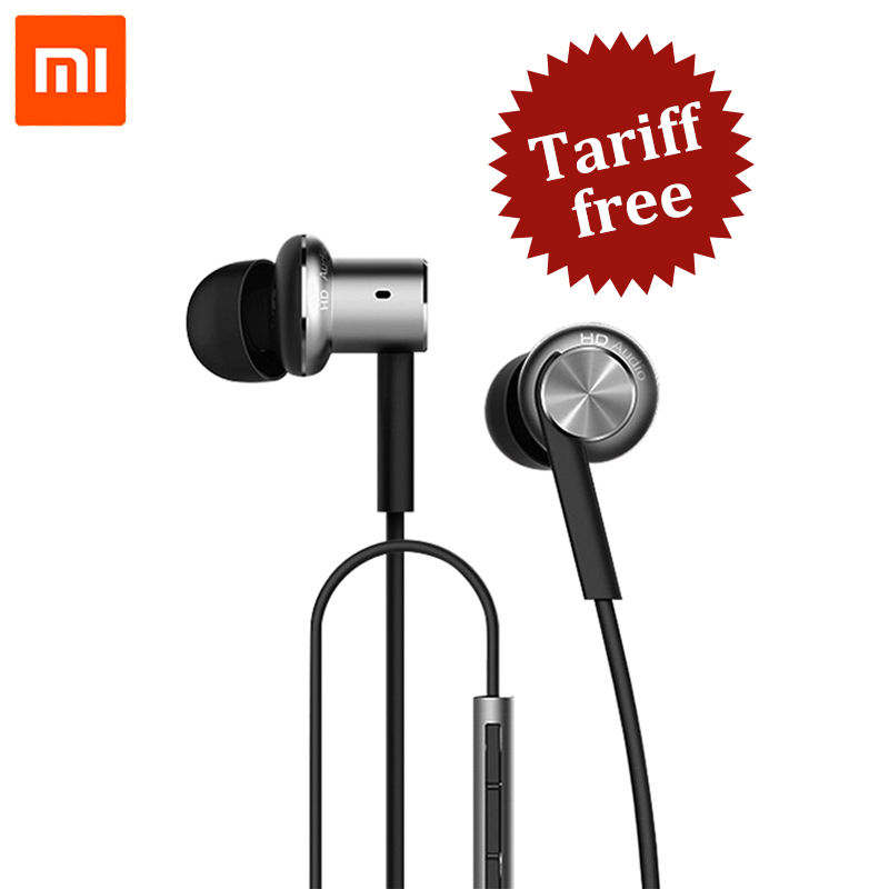 Original Xiaomi Hybrid / Pro HD Earphone In-Ear HiFi Earphones Mi Piston 4 With Mic Circle Iron Mixed For Redmi Pro Note3 MI5 original xiaomi xiomi mi hybrid earphone 1more design in ear multi unit piston headset hifi for smart mobile phone fon de ouvido