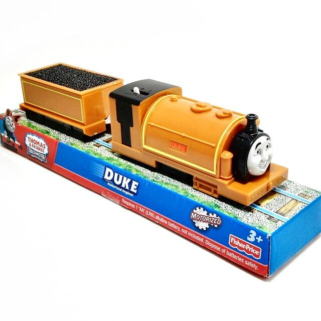 X105 Электрический Томас и друг ГЕРЦОГА с одной каретки Trackmaster двигатель Моторизованный поезд Chinldren дети игрушки с пакетом