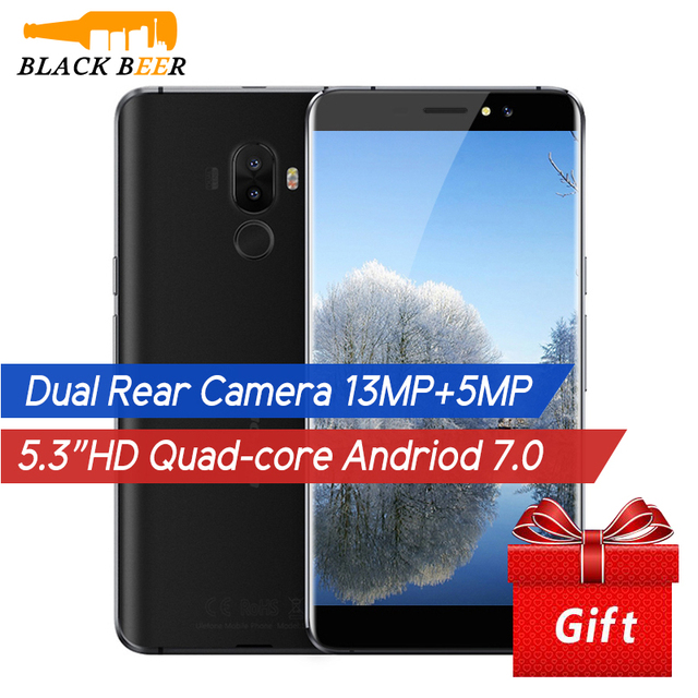 In Stocks! Ulefone S8 3G Mobile Phone MTK6580 Quad Core Android 7.0 1G RAM 8G ROM 13MP Dual Rear Cameras 5.3 inch HD Fingerprint