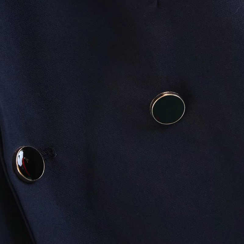 LERFEY Для женщин осенняя безрукавка длинный отложной воротник с открытым швом; платье-майка без рукавов куртки пальто; женская верхняя одежда Костюмы