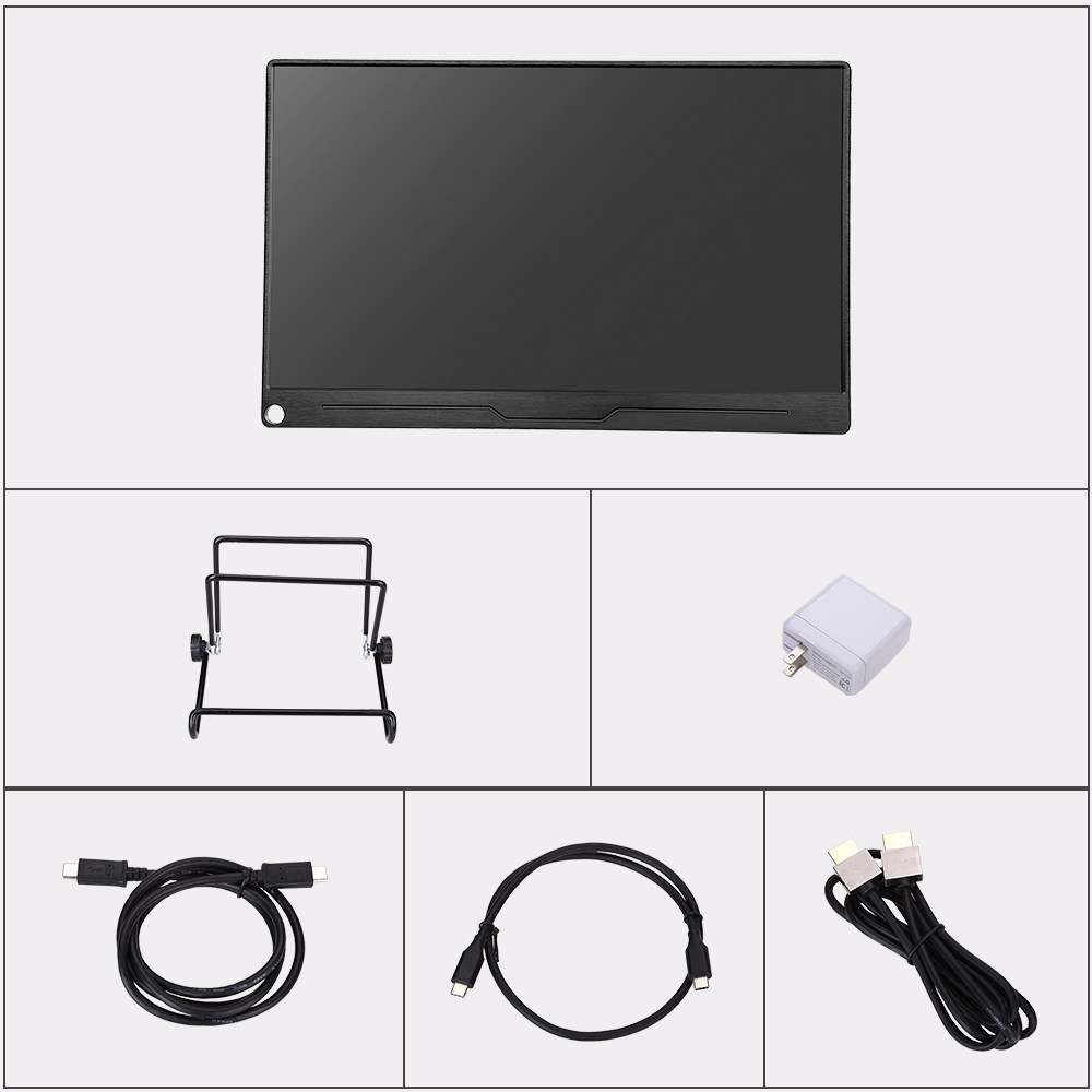 "Image 5 - Eyoyo 13.3"" FHD 3840 x 2160 4K IPS Gaming Monitor compatible for Game Consoles PS3 PS4 WiiU Switch Raspberry Mini PC ComputerLCD Monitors   -"