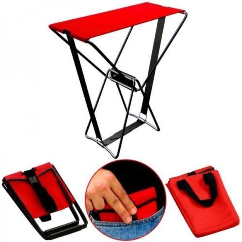 Портативный складной стул, потрясающий Карманный стул, помещается в кармане, вмещает 250 фунтов плюс Чехол для переноски, уличный рыболовный ...