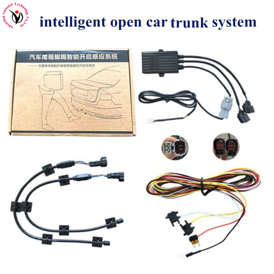 Car Trunk Automatic Open or Close Auto Tail Box Intelligent induction kick tail Car Trunk Cover Smart Opening Sensor System Tool auto car trunk automatically opens kicking action control open close car trunk boot sensing auto smart opening sensor system
