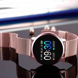 Image 3 - Upgrade BELOONG Q8 Rose Gold Smart Watch Fashion Electronics Men Women Waterproof Sport Tracker Fitness Bracelet Smartwatch
