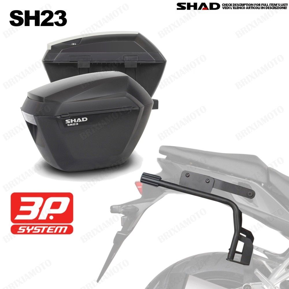 for HONDA CB650F CB 650 F 2014-2017 SHAD SH23 Side Boxs+Rack Set Motorcycle Luggage Case Saddle Bags Bracket Carrier System for kawasaki ninja 250 z250 er6n f versys 650 shad sh36 motorcycle luggage side case box rack bracket carrier system