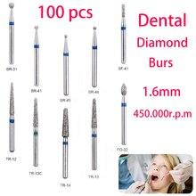 BR-31 Dental Diamond Burs Drill Dentistry Burs High Speed Handpiece Handle Diameter 1.6mm Dentist Tools BR-41 TR-13 FO32 high quality dental marathon micromotor handpiece high speed 35000rpm motor for n3 n7 n2