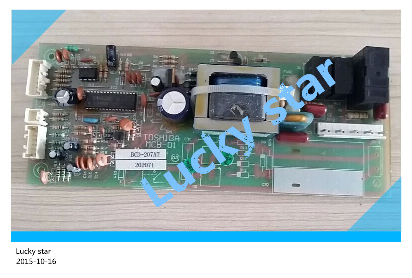 95% new for Toshiba refrigerator computer board circuit board BCD-207AT MCB-01 power board good working good working used board for refrigerator computer board power module da41 00482j board