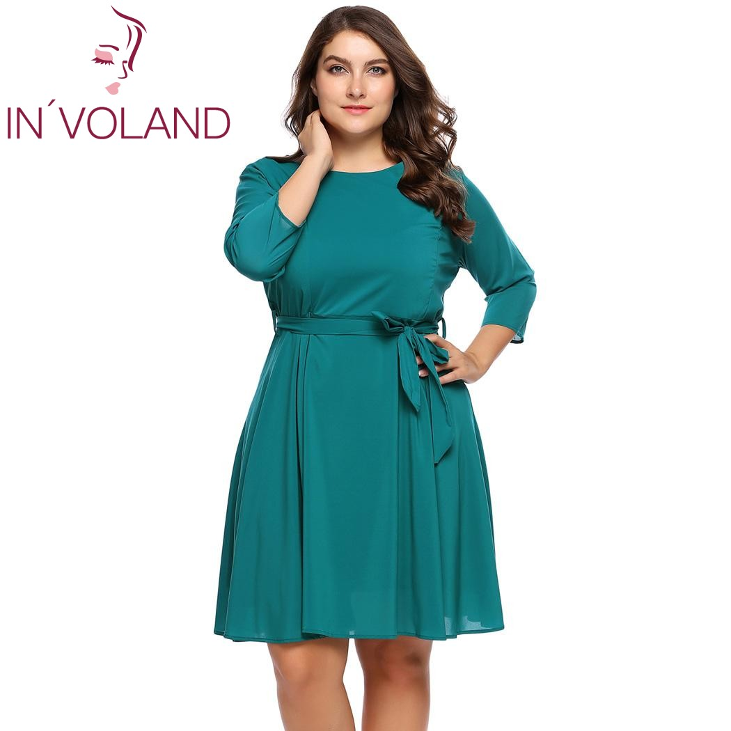 IN\'VOLAND Plus Size XL 4XL Women Party Maxi Dress Autumn Spring Long ...