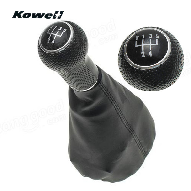 5-Speed Gear Shift Knob PU Leather Gator Boot Cover for Volkswagen VW Golf MK4 Bora POLO for SEAT CORDOBA INCA IBIZA Shifter for volkswagen bora bora golf 4 lever gear shift lever boot leather shift