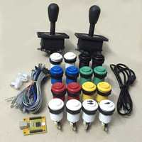 2 Player Mame Arcade DIY parts: PC PS3 2 in 1 USB encoder to Joysticks 4/8 way & 16 HAPP Push Buttons 60 in 1