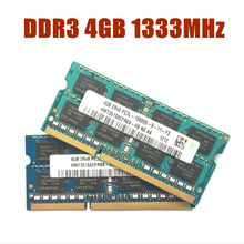 Kcmsywj 4 gb PC3L-10600S ddr3 1333 mhz 4g portátil memória ddr3l notebook módulo sodimm ram chipset hynix