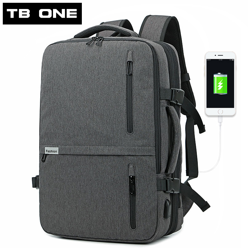 Travel Gray Backpack Waterproof Large Capacity Laptop Bag Man USB Recharging Backpack Bag women School Bags Mochila Masculina large capacity waterproof oxford backpack unisex students backpack school bags for teenagers laptop backpack women travel bag