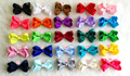 25pcs/lot 3 inch Grosgrain Ribbon Hair Bows with Hair Clips,Baby Boutique HairBows Hairclips DIY Girls' Hair Accessories R25