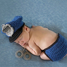 Handmade Crochet Deer Costume Set Knitted Hats and Pants Newborn Photography Props Photo Shoot