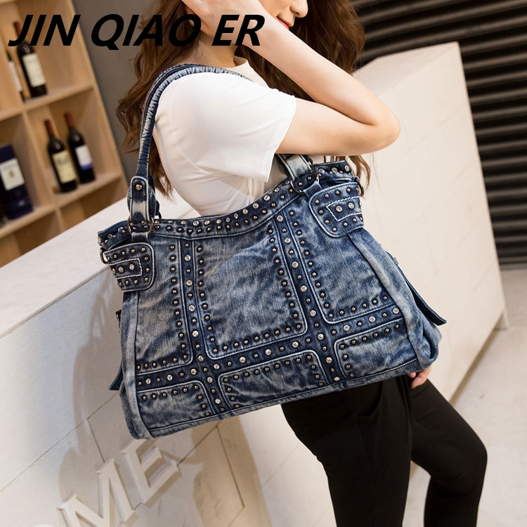 2019 Vintage Design Fashion Denim Women Bag Jeans Shoulder Bags Girls Handbags Crossbody Bag Women Messenger