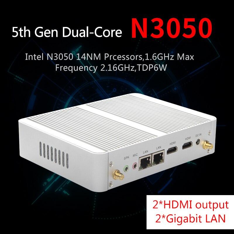 MSECORE N3050 Fanless Mini PC Windows 10 NUC barebone system Nettop Desktop Computer Intel Celeron Quad Core HD 300M WiFi