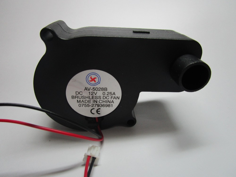 1 шт. бесщеточный вентилятор постоянный ток вентилятор 5028B 12 В 2 провода черный цвет 50x28 мм шарикоподшипник