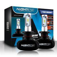 Nighteye H7 Ledรถยนต์หลอดไฟ8000lmอัตโนมัตินำแสง12โวลต์6500พันรถขับรถไฟหน้าแทนที่H7ซีนอนหลอดฮาโลเจนตัดหมอ...