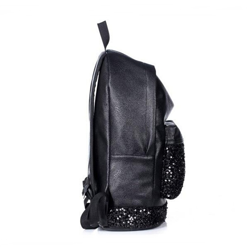 751e6a1fb7d5 Big Crown Embroidered Sequins Backpack Women Leather Cute Fashion Women  Backpack Girls School Bags High Quality New Young -in Backpacks from  Luggage   Bags ...