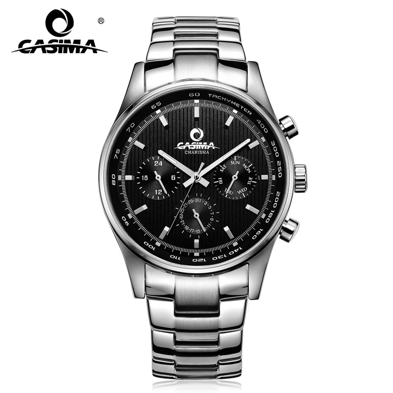 Men's watches Luxury classic wrist fashion business men quartz wristwatches leather band waterproof 100m CASIMA #5114
