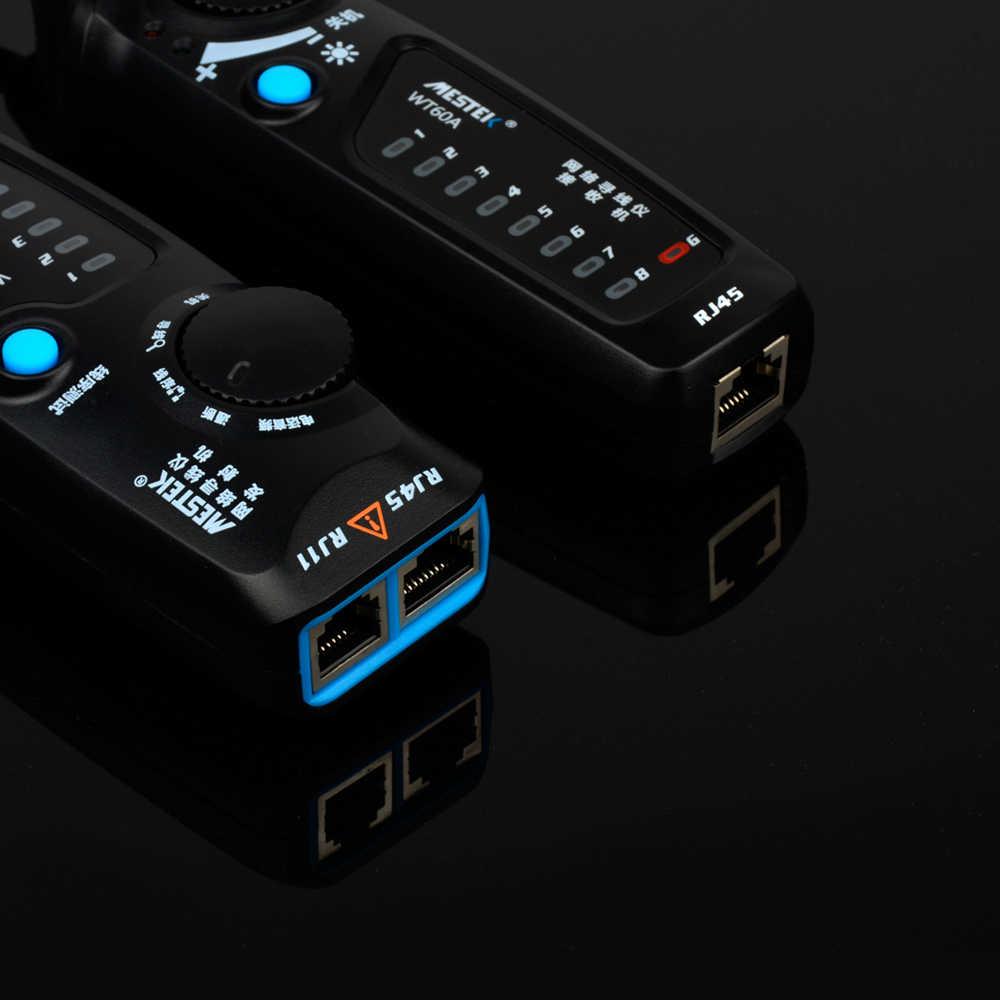 MESTEK WT60A טלפון חוט Tracker RJ11 RJ45 Cat5 Cat6 Tracer טונר Ethernet LAN כבל רשת Tester גלאי קו Finder