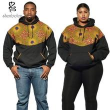 Shenbolen sudaderas con capucha para hombres y mujeres de manga larga ankara africana tela de la impresión de la moda hoodies abrigo